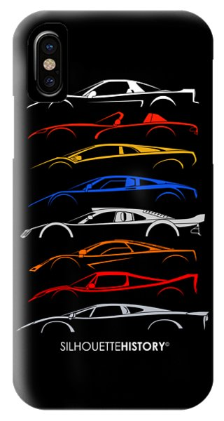Viper iPhone Case - Dreamcars Of 90s Silhouettehistory by Gabor Vida