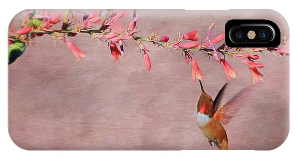 Beautiful Hummingbird iPhone Case - Dreamin' In Pink by Donna Kennedy