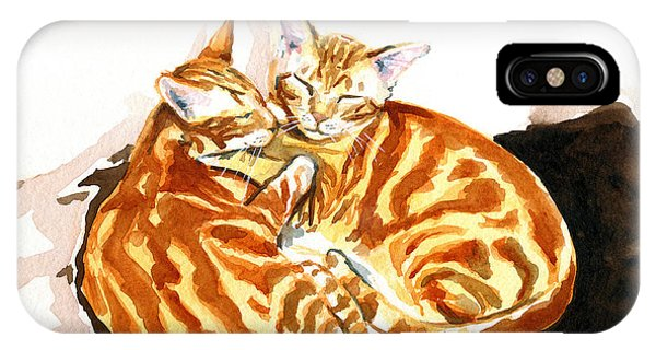 Dreaming Of Ginger - Orange Tabby Cat Painting IPhone Case
