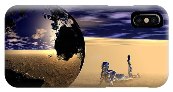 IPhone Case featuring the digital art Dreaming Of Other Worlds by Sandra Bauser Digital Art