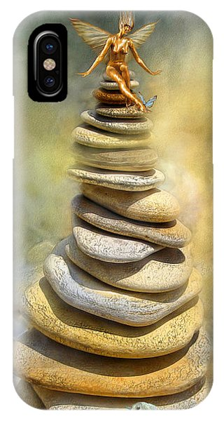 Print iPhone Case - Dreaming Stones by Carol Cavalaris