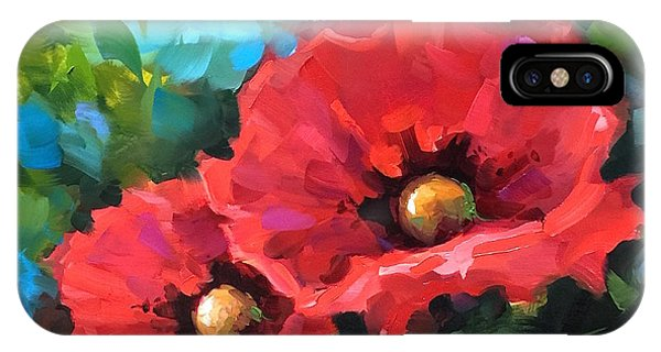iPhone Case - Dreams Of Flying Red Poppies by Nancy Medina