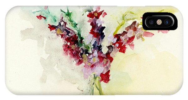 IPhone Case featuring the painting Dreamy Orchid Bouquet by Lauren Heller