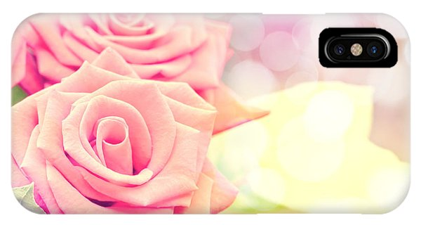 Valentines Day iPhone Case - Dreamy Pastel Roses by Delphimages Photo Creations