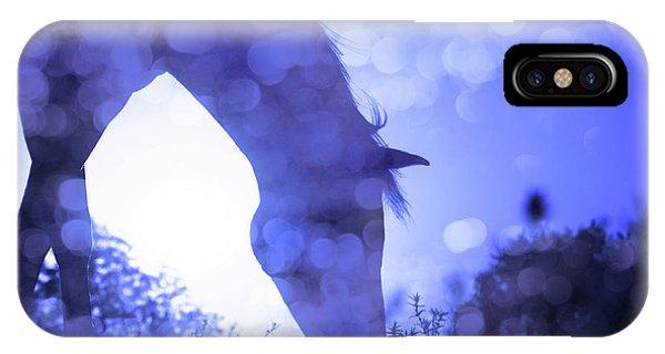 Dreamy Sunrise In Blue IPhone Case