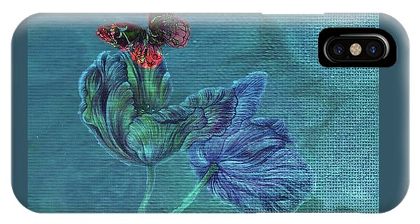 Dreamy Tulip With Gemlike Butterfly IPhone Case