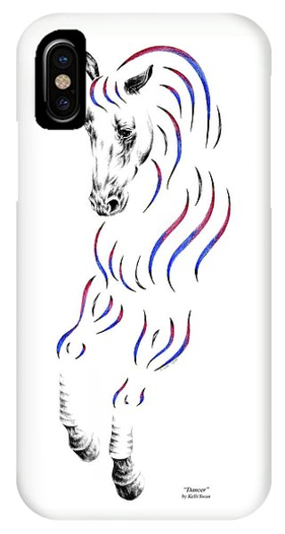 Dressage Horse Dancer Print IPhone Case