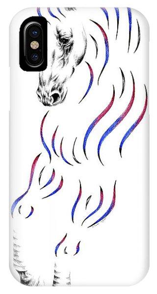 Dressage Horse Dancer Print IPhone Case