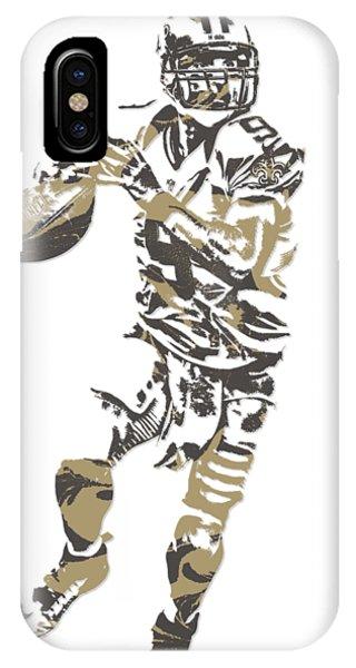 Ball iPhone Case - Drew Brees New Orleans Saints Pixel Art T Shirt 1 by Joe Hamilton