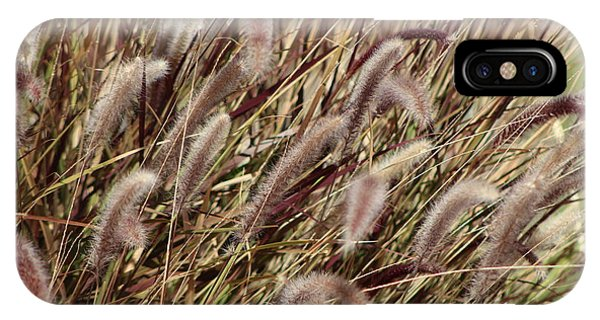 Dried Grasses In Burgundy And Toasted Wheat IPhone Case