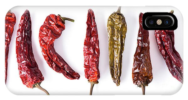 Dried Peppers Lined Up IPhone Case