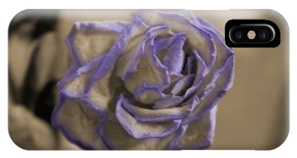 Dried Rose In Sienna And Ultra Violet IPhone Case