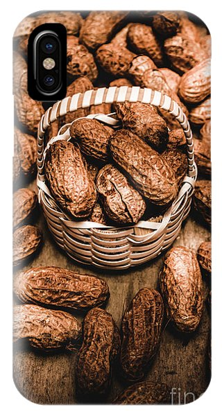 Seeds iPhone Case - Dried Whole Peanuts In Their Seedpods by Jorgo Photography - Wall Art Gallery