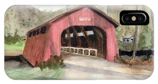 Drift Creek Covered Bridge Watercolor IPhone Case