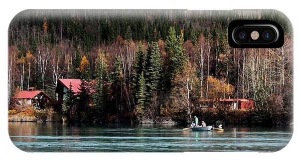 Drift Fishing On The Kenai IPhone Case