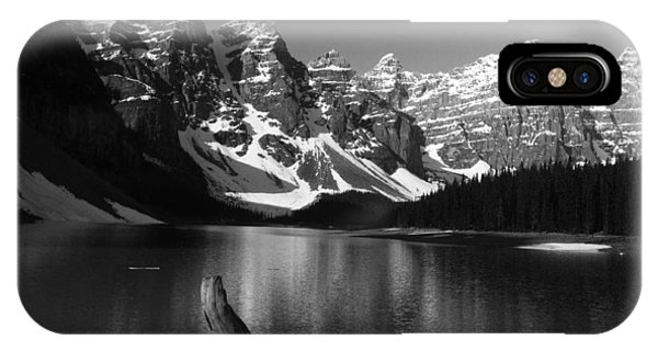 Drift Wod On Lake Moraine IPhone Case