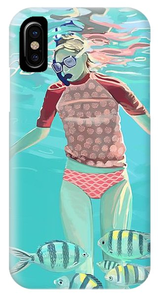 Reef Diving iPhone Case - Drifting by Plum Ovelgonne