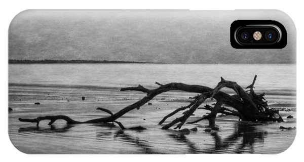 Driftwood Dream In Black And White IPhone Case