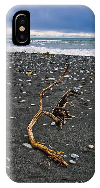 IPhone Case featuring the photograph Driftwood - Okarito Beach - New Zealand by Steven Ralser