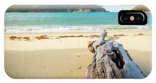 Wilsons Promontory iPhone Case - Driftwood On Beach by Tim Hester