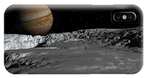 Drilling On Europa IPhone Case
