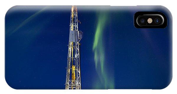 Drilling Rig Saskatchewan IPhone Case