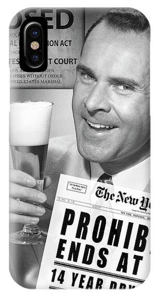 Schooner iPhone Case - Drink Beer - Prohibition's Over by Daniel Hagerman