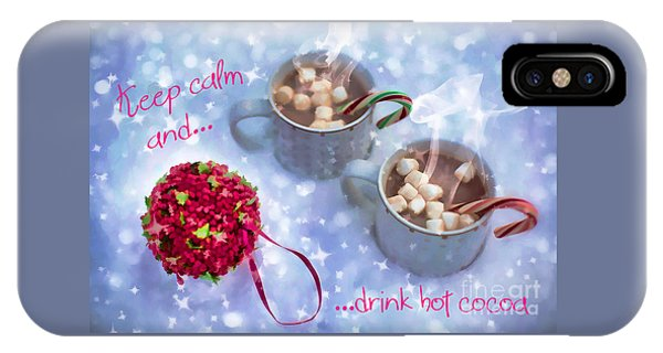 IPhone Case featuring the digital art Drink Hot Cocoa 2016 by Kathryn Strick
