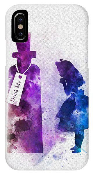 Alice In Wonderland iPhone Case - Drink Me by Rebecca Jenkins