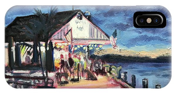 Tiki Bar iPhone Case - Drinks And Dogs At Doc's by Maggii Sarfaty