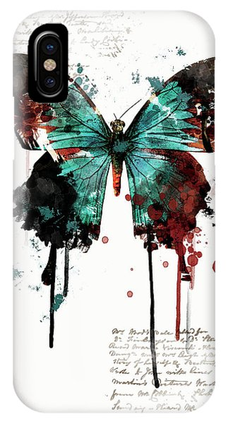 Dripping Butterfly IPhone Case