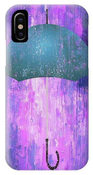Purple Rain iPhone Case - Dripping Poster Purple Rain by Yury Malkov