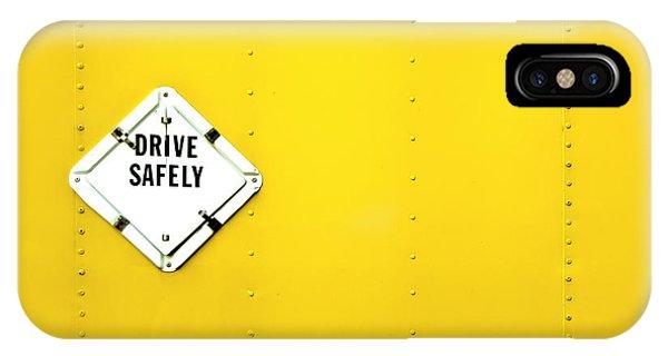Monochrome iPhone Case - Drive Safely by Evelina Kremsdorf