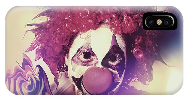 Funfair iPhone Case - Droopy The Clown With Mind Bending Magic by Jorgo Photography - Wall Art Gallery