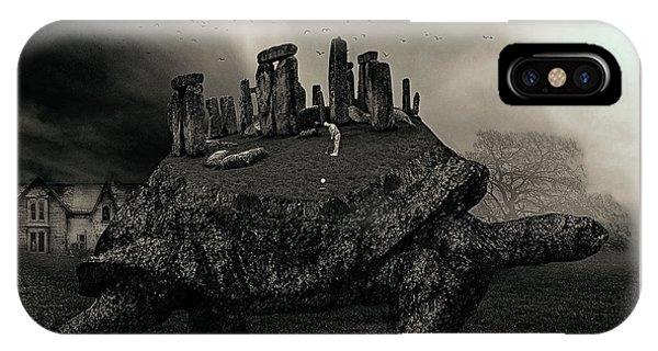Strange iPhone Case - Druid Golf Black And White by Marian Voicu