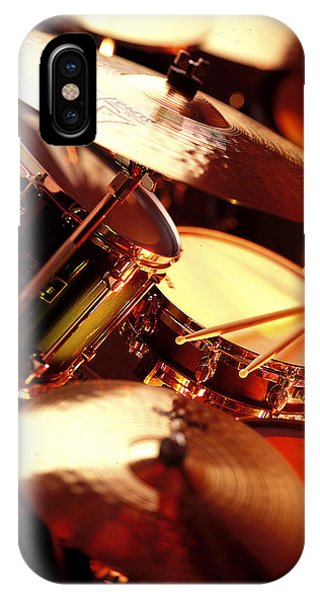 Drum iPhone Case - Drums by Robert Ponzoni