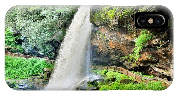 IPhone Case featuring the photograph Dry Falls Highlands North Carolina 2 by Lisa Wooten