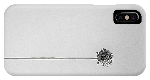 Dry Flower - Black And White Art Photo IPhone Case