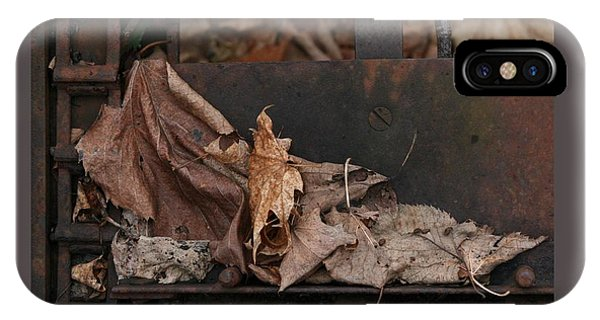 Dry Leaves And Old Steel-i IPhone Case