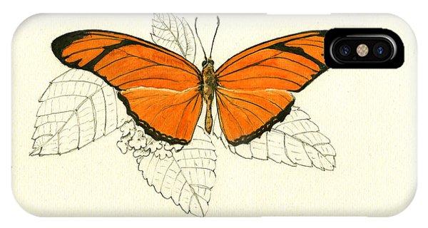 Or iPhone Case - Dryas Iulia, Orange Julia Butterfly by Juan Bosco