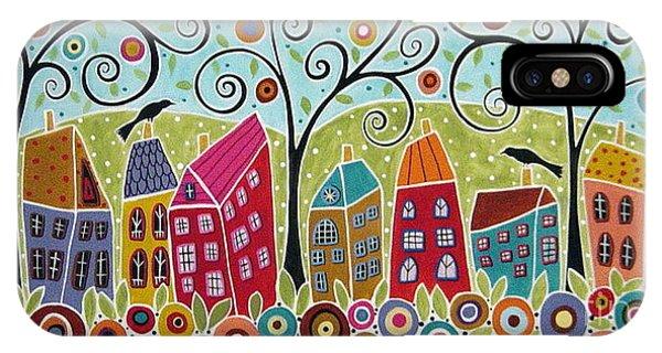 Blackbird iPhone Case - Dsc01598-swirl Tree Village by Karla Gerard