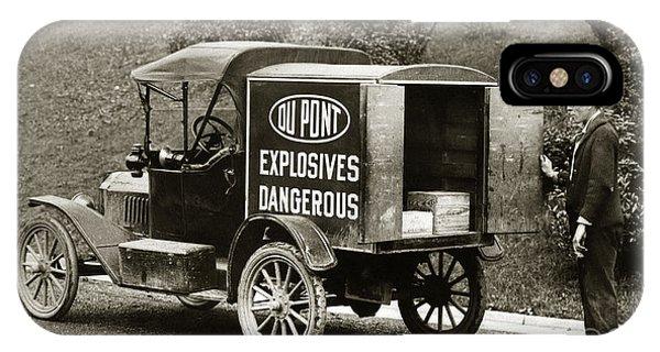 Du Pont Co. Explosives Truck Pennsylvania Coal Fields 1916 IPhone Case