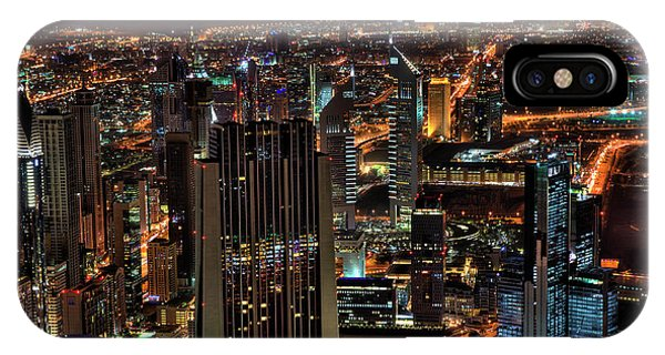 Dubai At Night IPhone Case