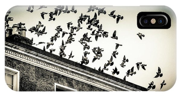Flight Over Oscar Wilde's Hood, Dublin IPhone Case