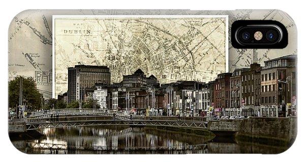 Dublin Skyline Mapped IPhone Case