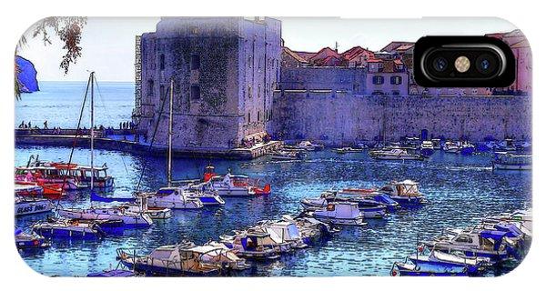 Dubrovnik Harbour IPhone Case