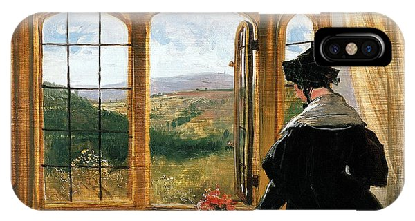 Duchess Of Abercorn Looking Out Of A Window IPhone Case