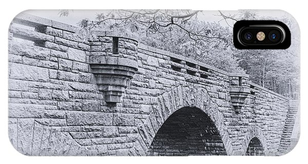 Duck Brook Bridge In Black And White IPhone Case
