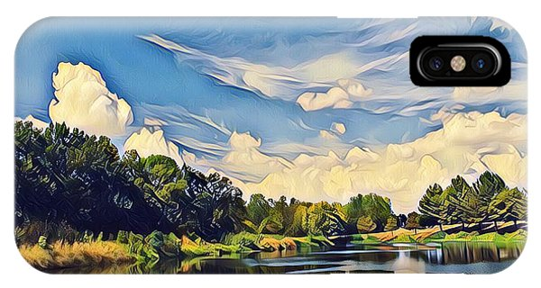 Reflections At Duck Creek IPhone Case