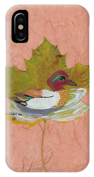 Duck On Pond IPhone Case